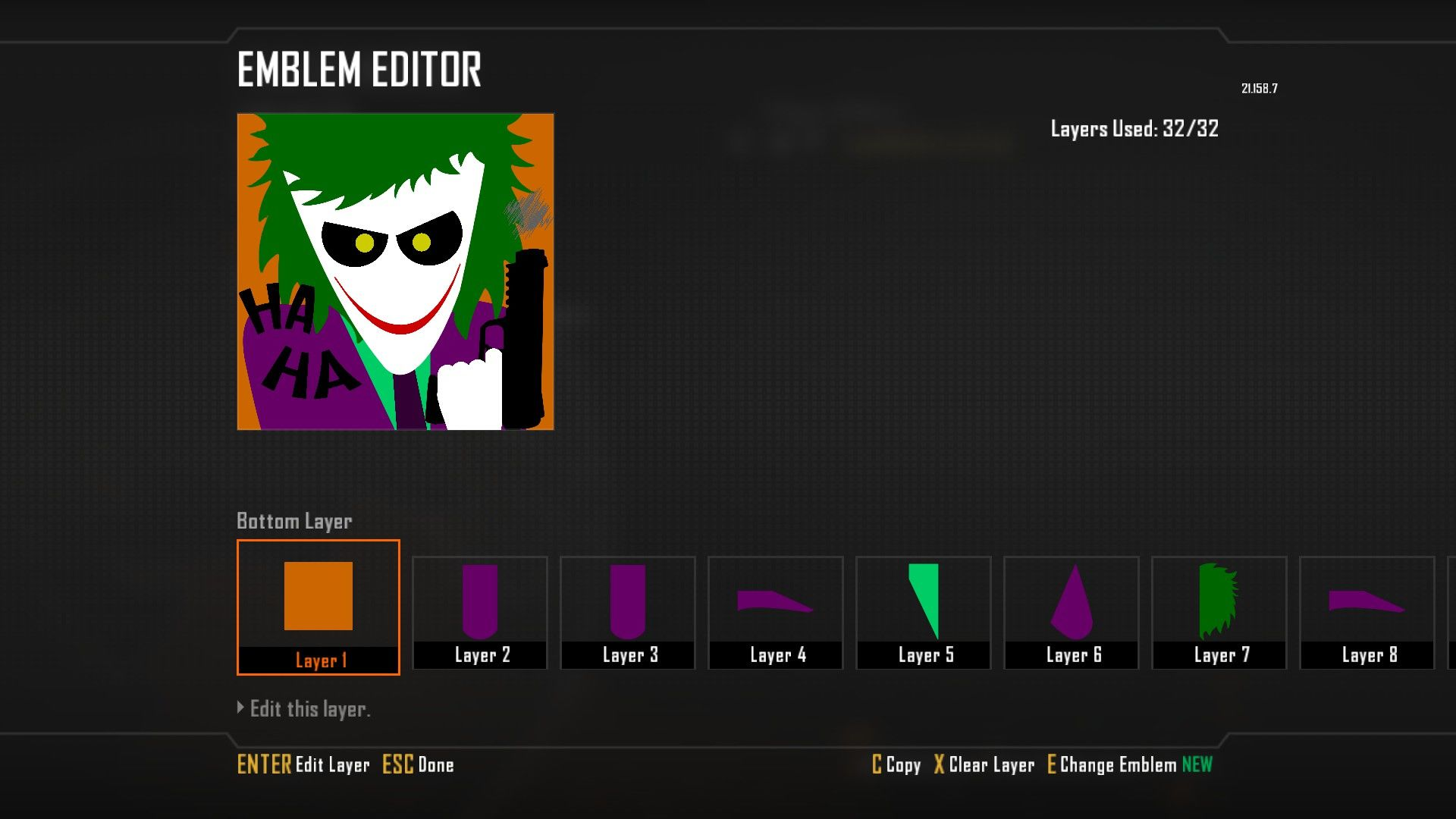 Call of Duty: Black Ops II Windows Creating an emblem.