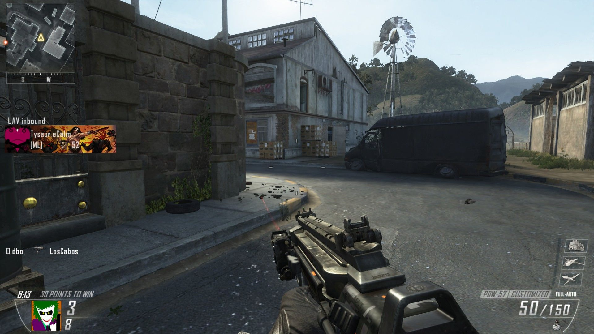 Call of Duty: Black Ops II Windows This map, Standoff, is heavily based on the <i>CoD 2</i> map Dawnville.