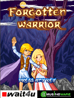 Forgotten Warrior J2ME Title screen