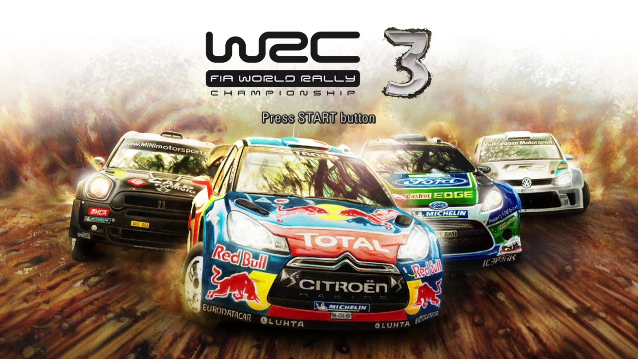 WRC 3: FIA World Rally Championship PlayStation 3 Start screen
