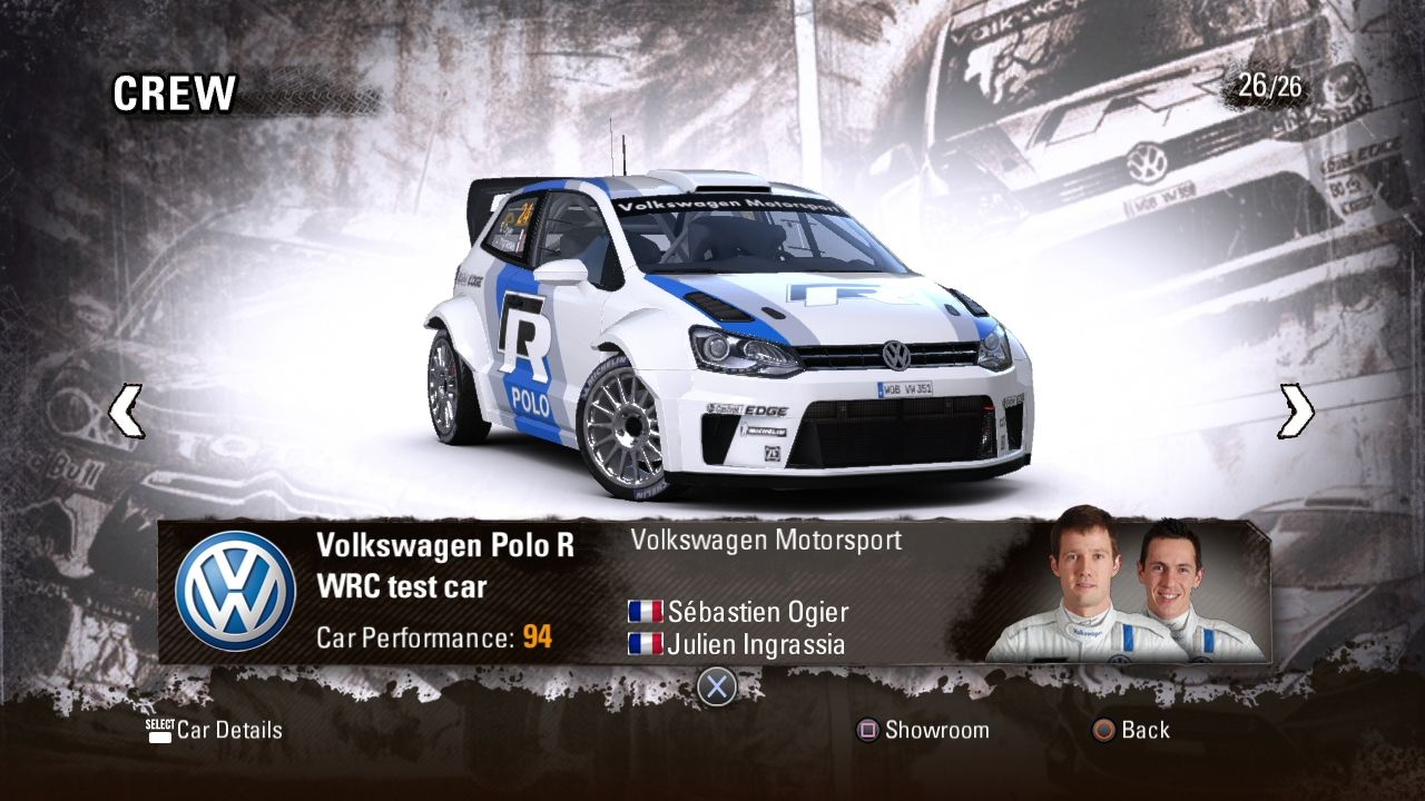 WRC 3: FIA World Rally Championship PlayStation 3 It's not just a car you choose, but a team.