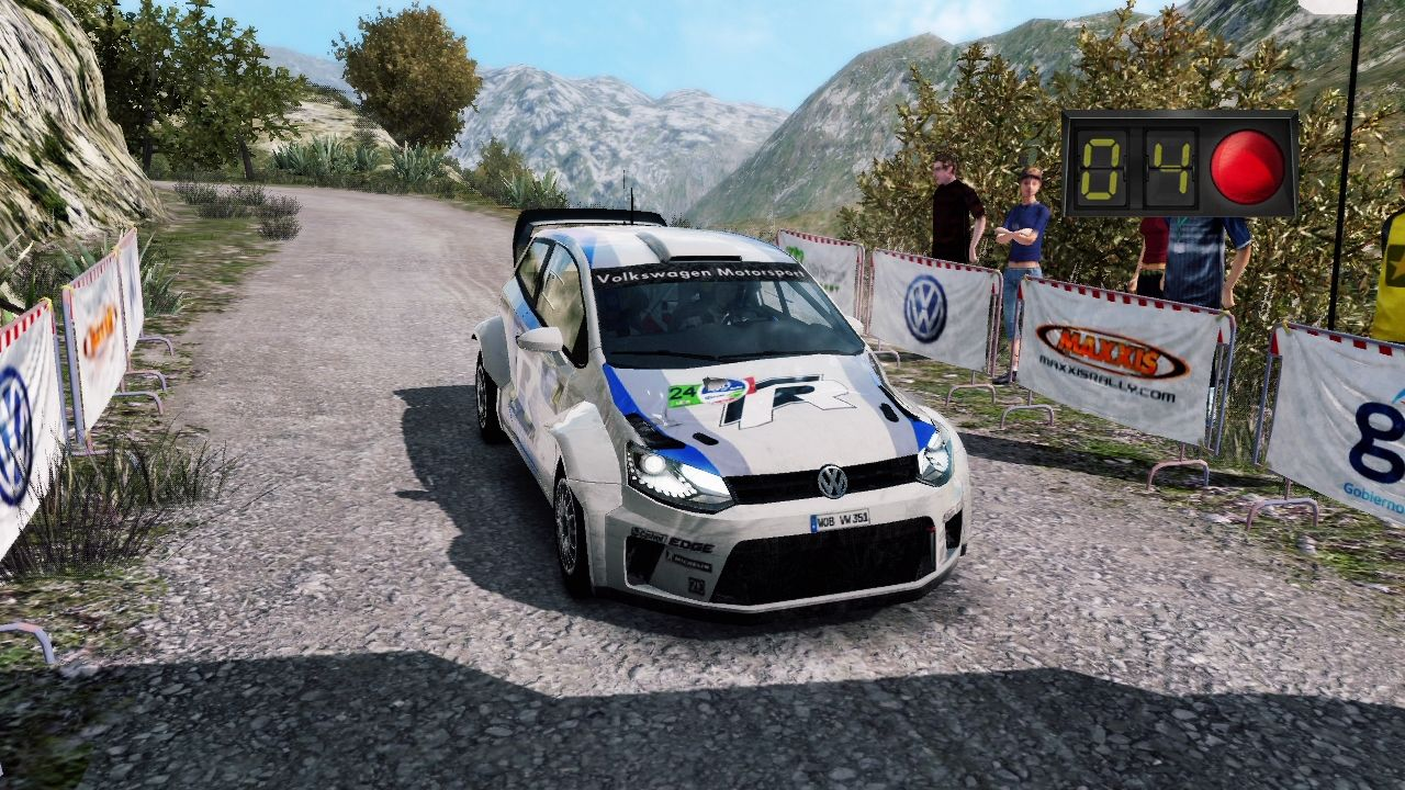 WRC 3: FIA World Rally Championship PlayStation 3 Starting the race.