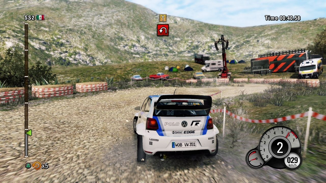 WRC 3: FIA World Rally Championship PlayStation 3 Those tight corners are quite hard for a newbie like me.