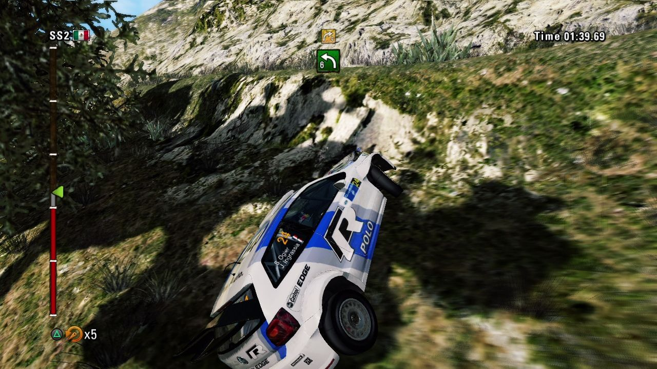 WRC 3: FIA World Rally Championship PlayStation 3 Dangerous indeed. Too bad we don't have invisible walls in real life.
