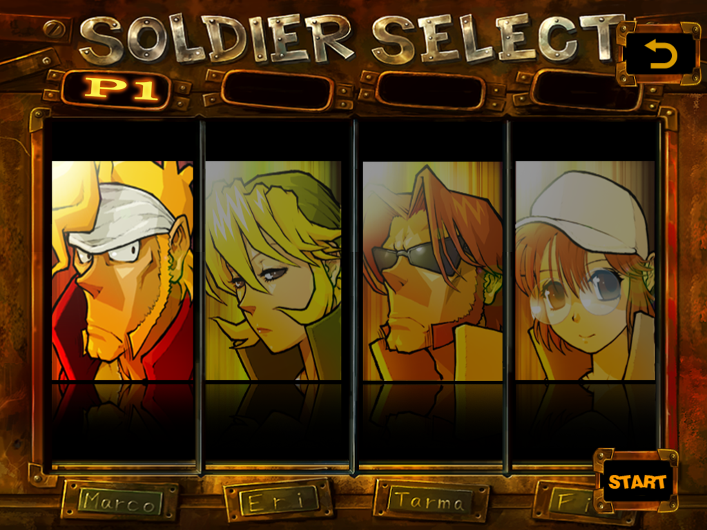 Metal Slug 3 iPad Soldier select