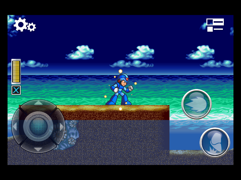 Mega Man X iPad Chilling at the beach.