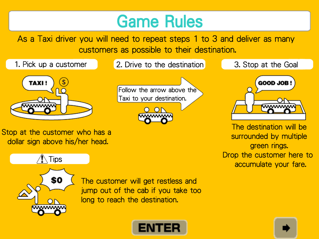 Crazy Taxi iPad Game rules