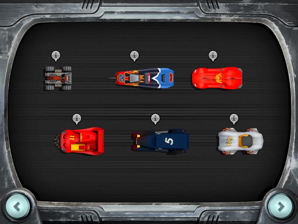 Carmageddon iPad Define the starting grid.