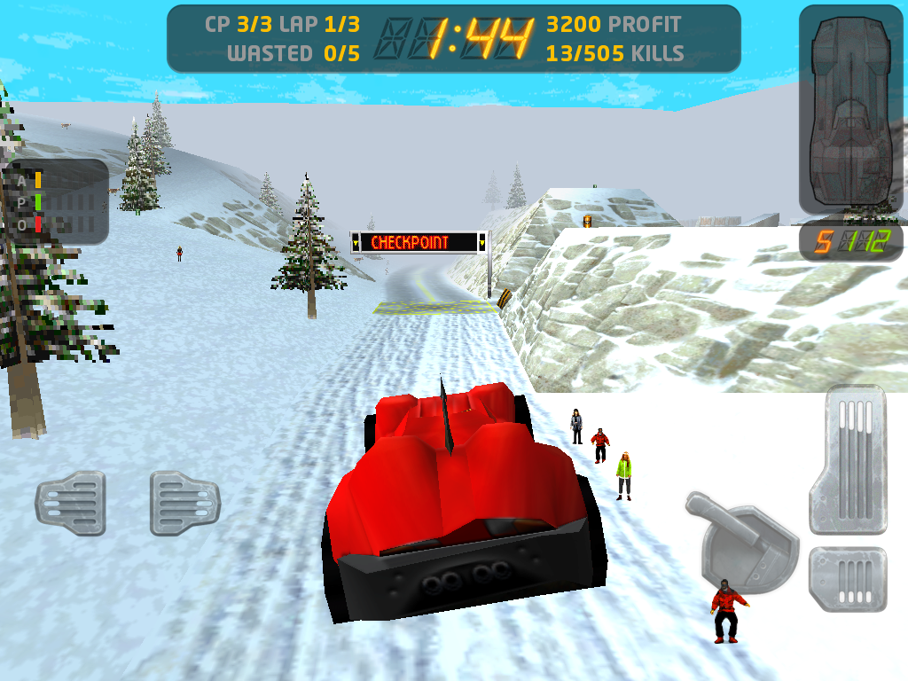 Carmageddon iPad Catching some air.