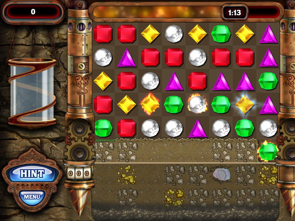 Bejeweled: Classic iPad Diamond mine
