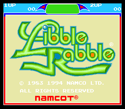 Libble Rabble SNES Title screen