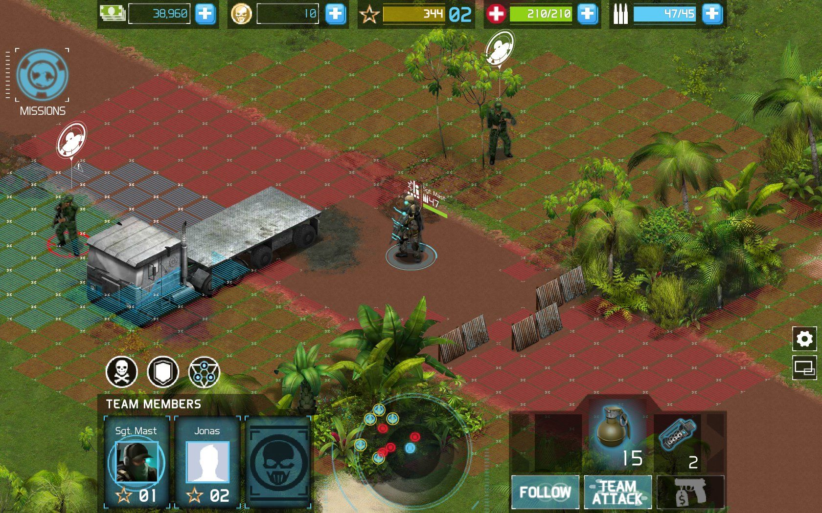 Tom Clancy's Ghost Recon: Commander Browser About to throw a grenade.