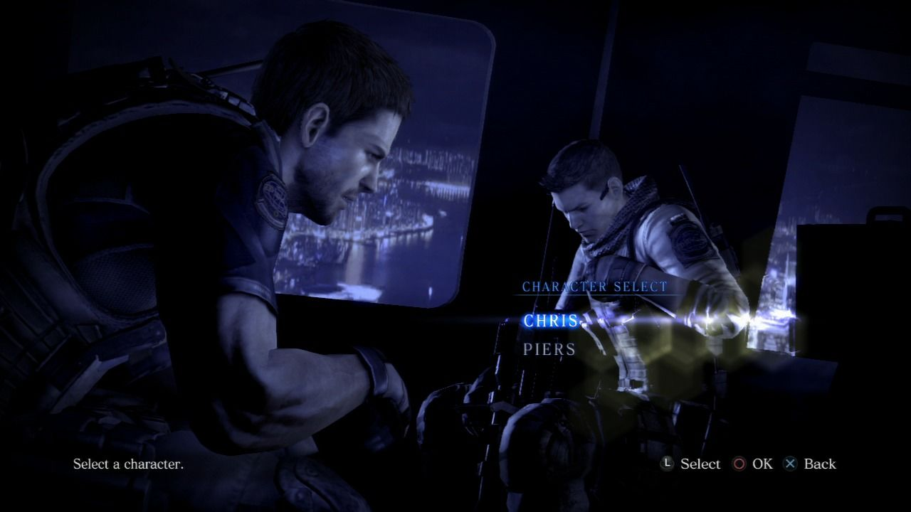 Resident Evil 6 PlayStation 3 Each scenario (except the bonus one) lets you select one of the two playable characters (or both in co-op mode).
