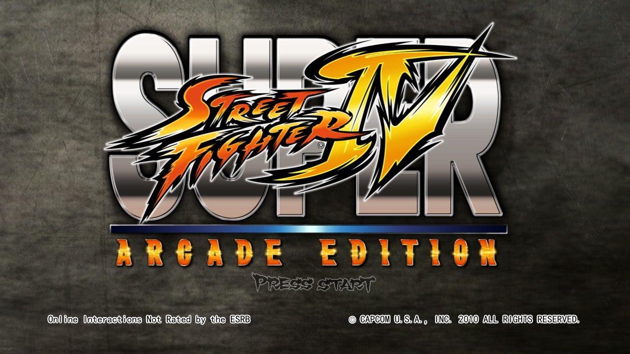 Super Street Fighter IV: Arcade Edition Windows Title screen.