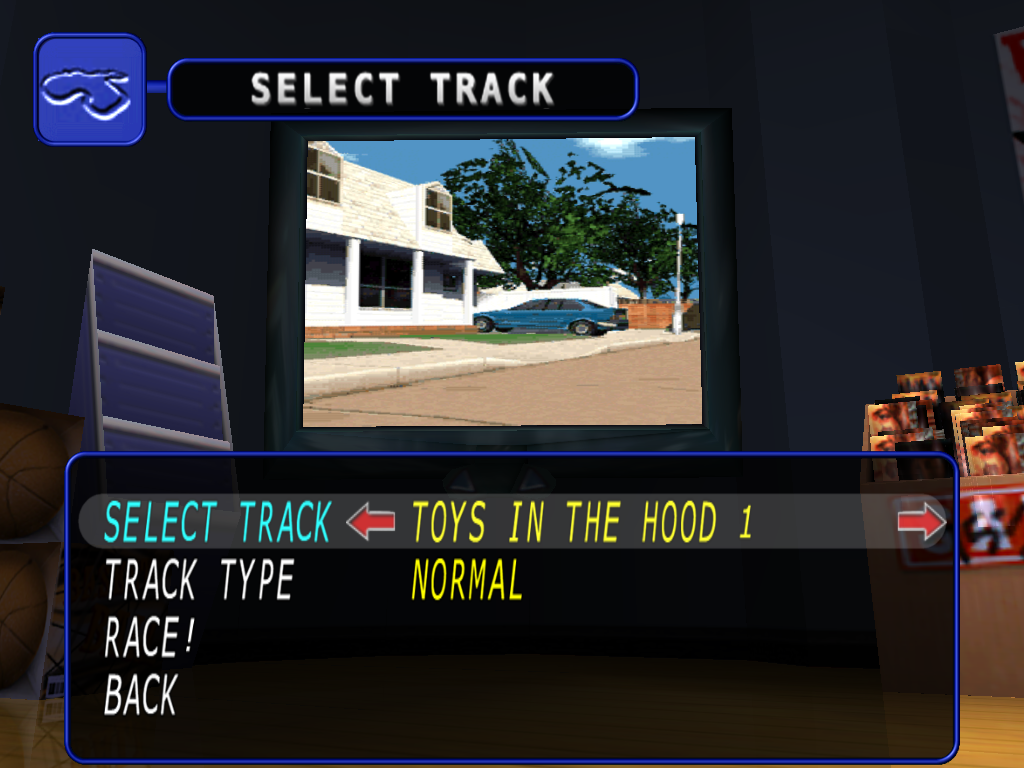 Re-Volt iPad Track selection