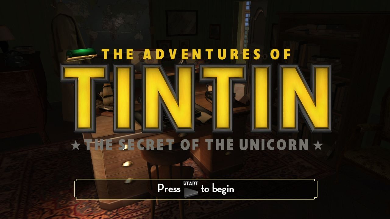 The Adventures of Tintin: The Game PlayStation 3 Title screen