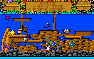 Treasure Island Dizzy Amiga The sunken ship