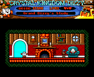 Crystal Kingdom Dizzy Amiga Grand Dizzy's hut