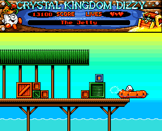Crystal Kingdom Dizzy Amiga Leaving for the Ice Palace!