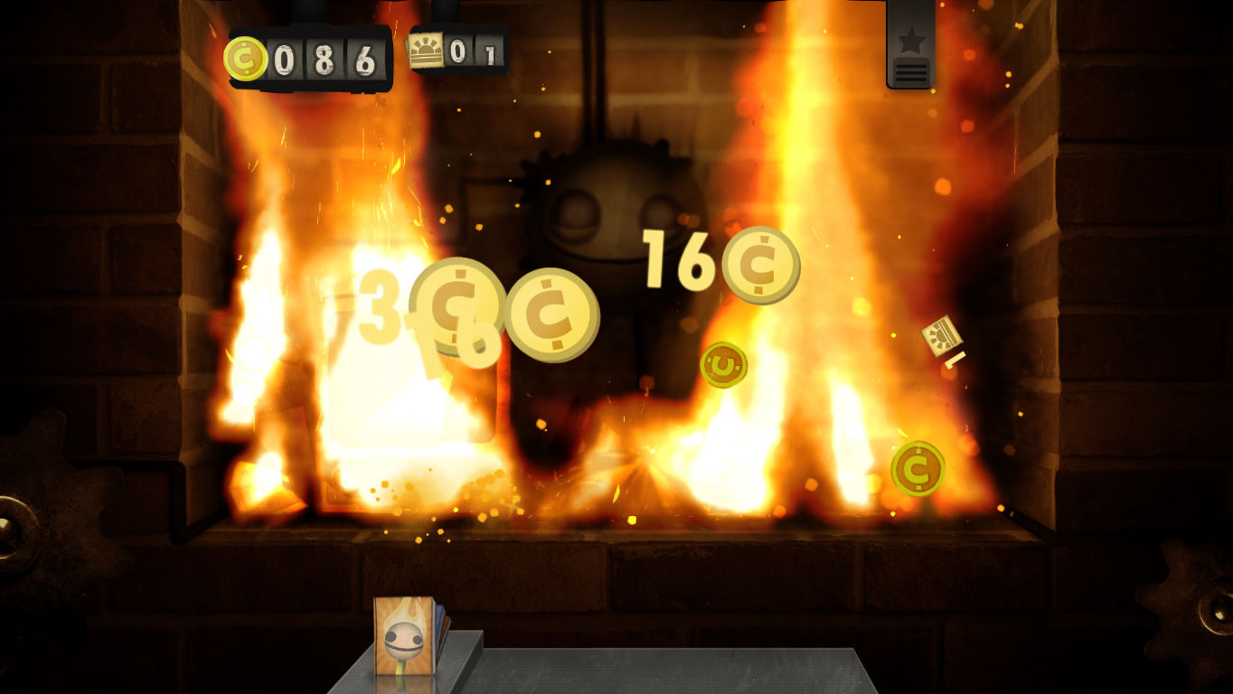Little Inferno Windows Burn objects to pick up money.