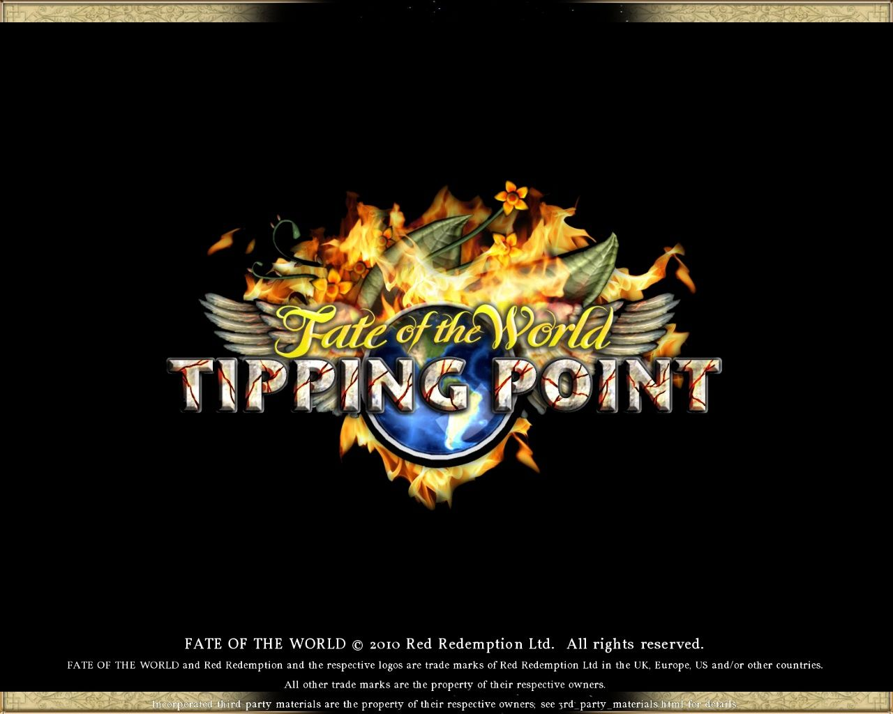 Fate of the World: Tipping Point Windows Title screen