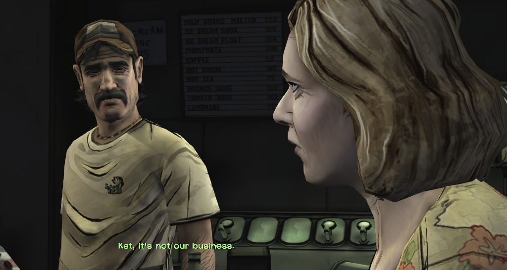 The Walking Dead Windows Episode 1 - Kenny and Katjaa's first concern is their son Duck.