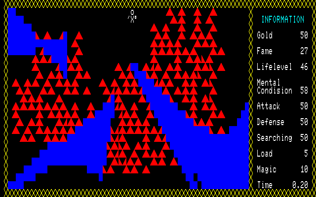 Ken to Mahō PC-88 Rivers and narrow path