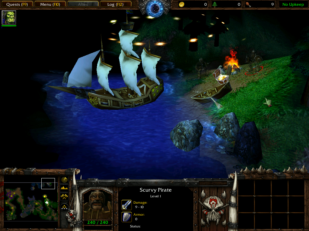 Warcraft III: Reign of Chaos (Demo Version) Windows A little Easter egg on the first tutorial map.