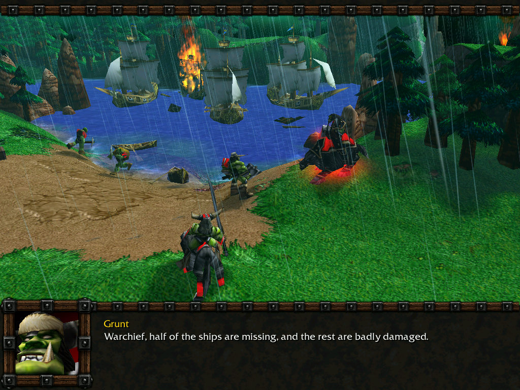 WarCraft III: Reign of Chaos (Demo Version) Windows Looks like the Orcs will have to stay on the island for a while...