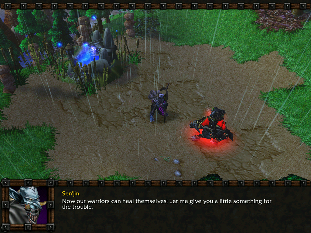 Warcraft III: Reign of Chaos (Demo Version) Windows Quest completed, and you also get a little reward (besides being able to heal your units near the fountain) - healing wards Thrall can carry around.