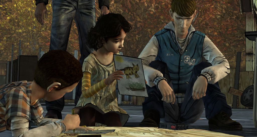 The Walking Dead Windows Episode 2 - Clementine shows what she has been drawing.