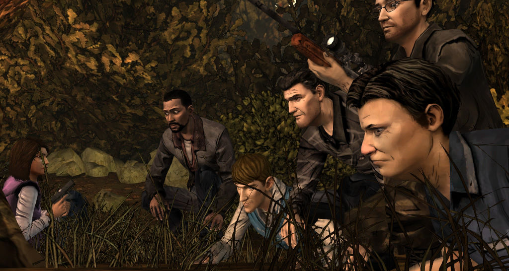 The Walking Dead Windows Episode 2 - The group discovers the bandits.