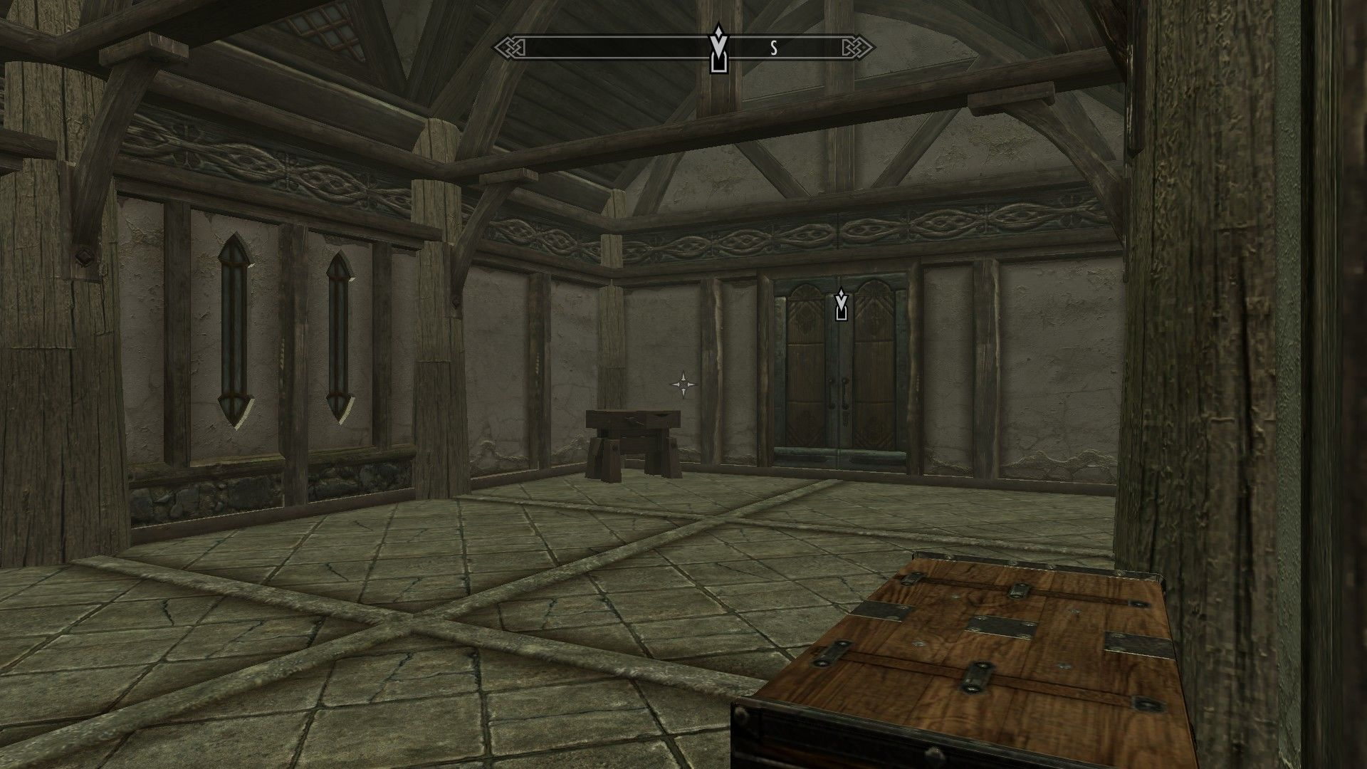 The Elder Scrolls V: Skyrim - Hearthfire Windows Inside it's still very bare.