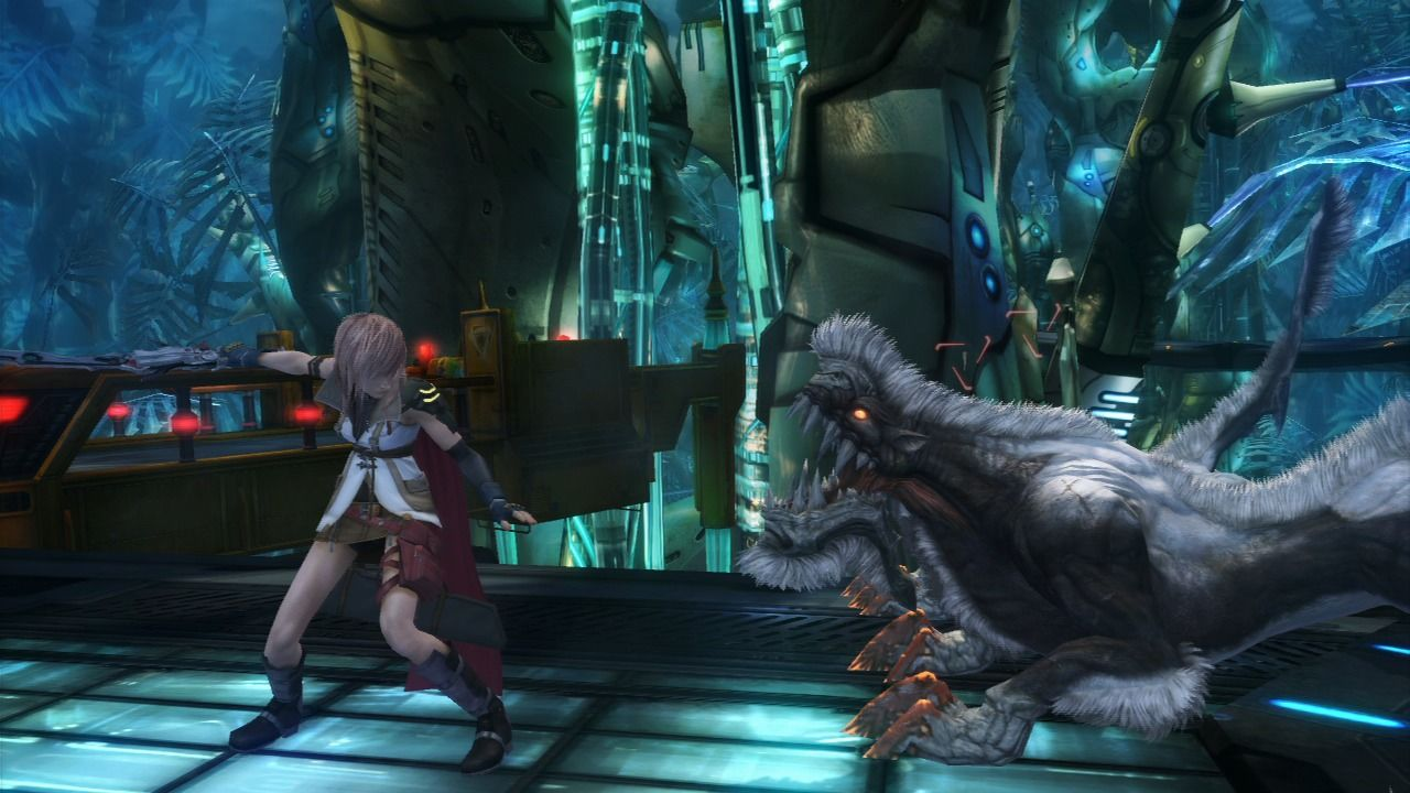 Final Fantasy XIII PlayStation 3 Entering the battle with the local bestiary.