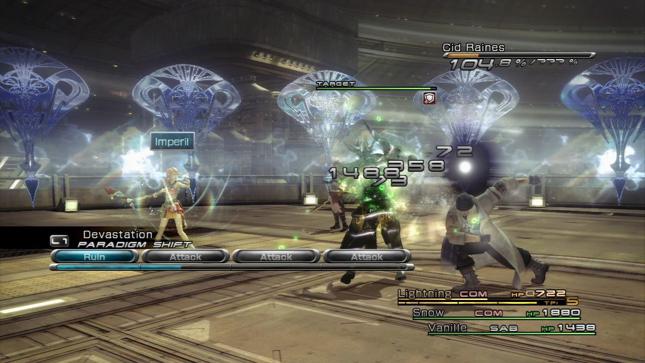 Final Fantasy XIII PlayStation 3 A boss battle in the game as usually hard and prolonged for a Square title.