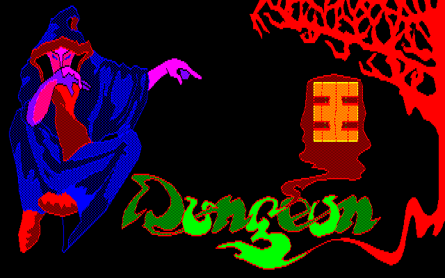 Dungeon PC-88 Title screen