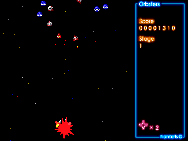 Orbsters Windows Shareware release: Game Over