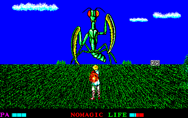 Argo PC-88 One of the bigger monsters with a separate battle screen