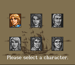 New Horizons SNES Choose from six characters, each with his own storyline.