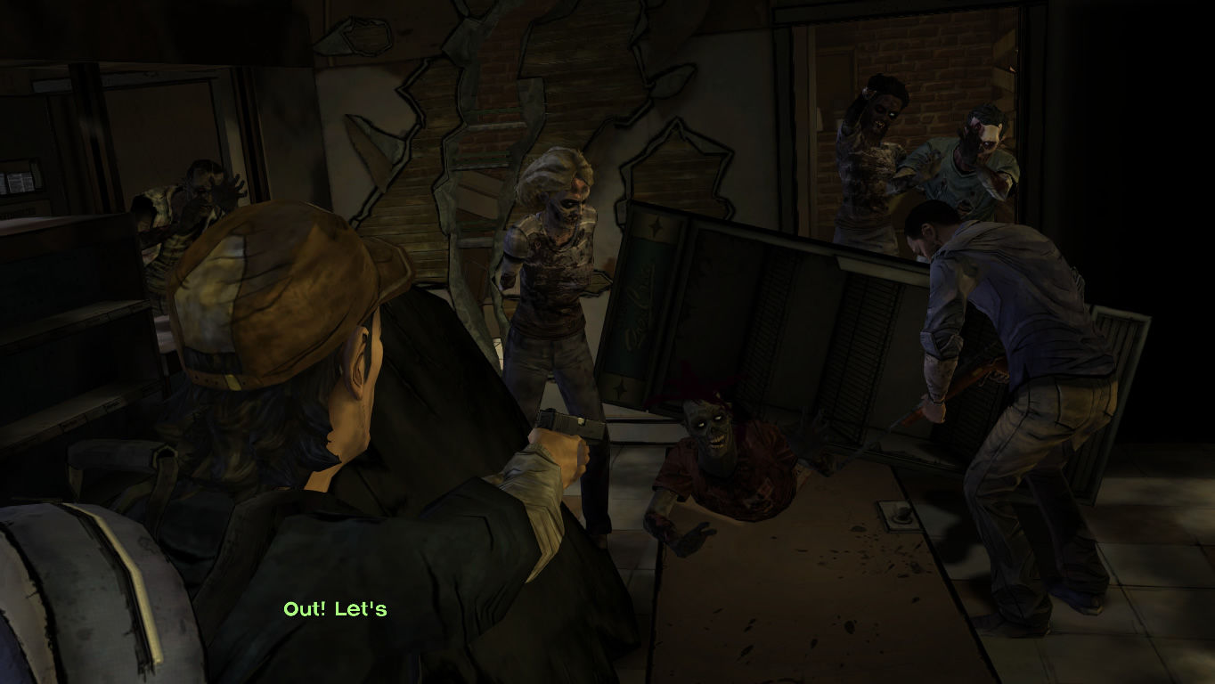 The Walking Dead Windows Episode 3 - Kenny and Lee are attacked in the city while gathering supplies.