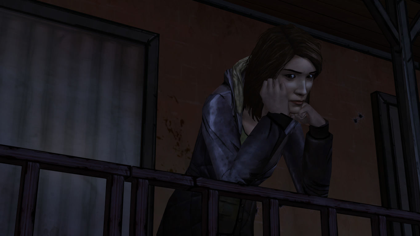 The Walking Dead Windows Episode 3 - Carley has something she needs to tell Lee, assuming she made it to this episode.