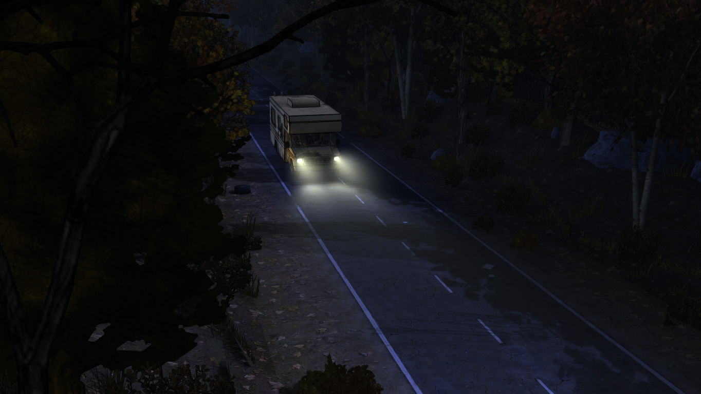 The Walking Dead Windows Episode 3 - Driving the RV away from the motel.