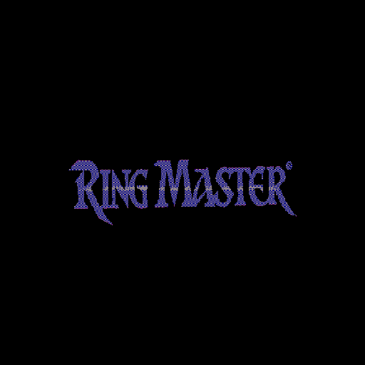 Ring Master I: The Shadow of Filias Sharp X68000 Title screen