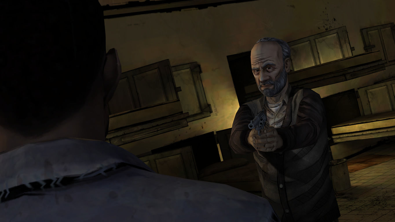 The Walking Dead Windows Episode 4 - Lee discovers survivors that have been hiding in the sewers.
