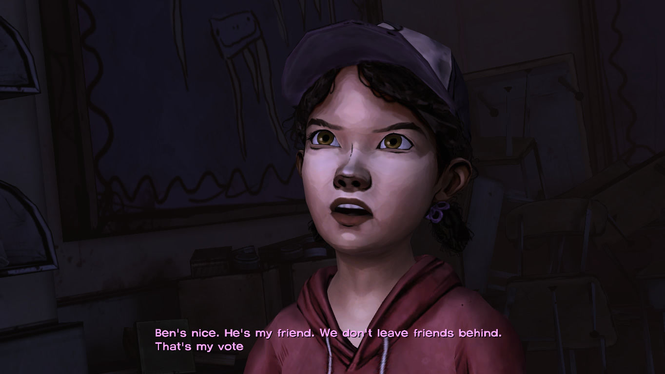 The Walking Dead Windows Episode 4 - Clem becomes more involved with the group's decisions.