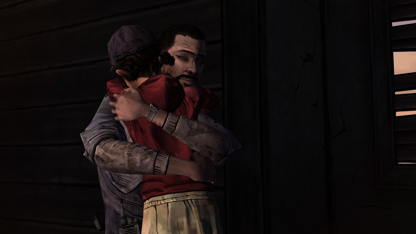 The Walking Dead Windows Episode 4 - Clem and Lee reunited.