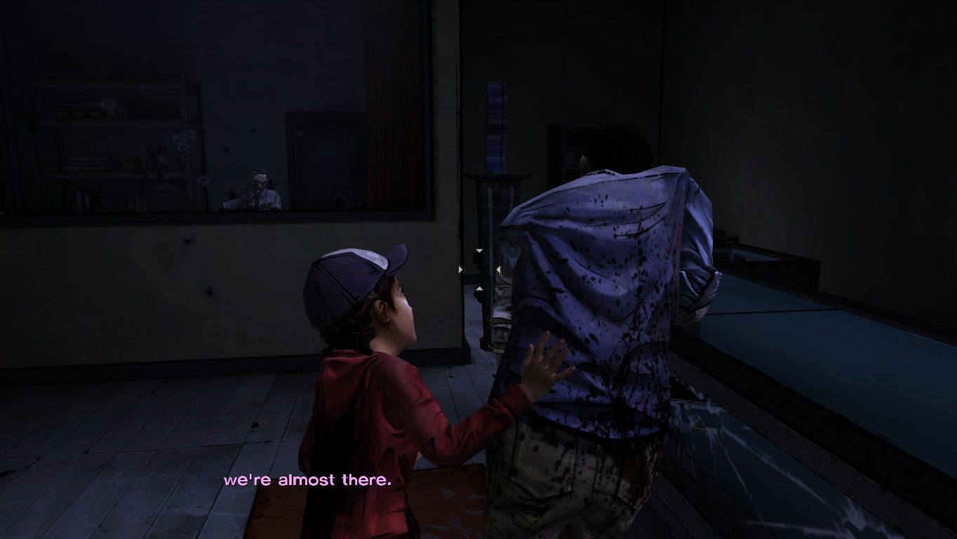 The Walking Dead Windows Episode 5 - Clem needs to support Lee.