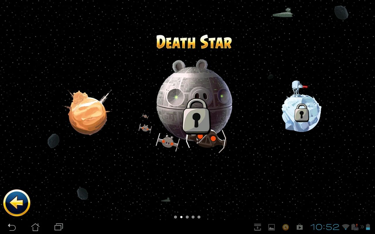 Angry Birds: Star Wars Android Mission select