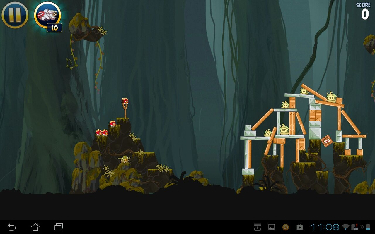 Angry Birds: Star Wars Android Dagobah level