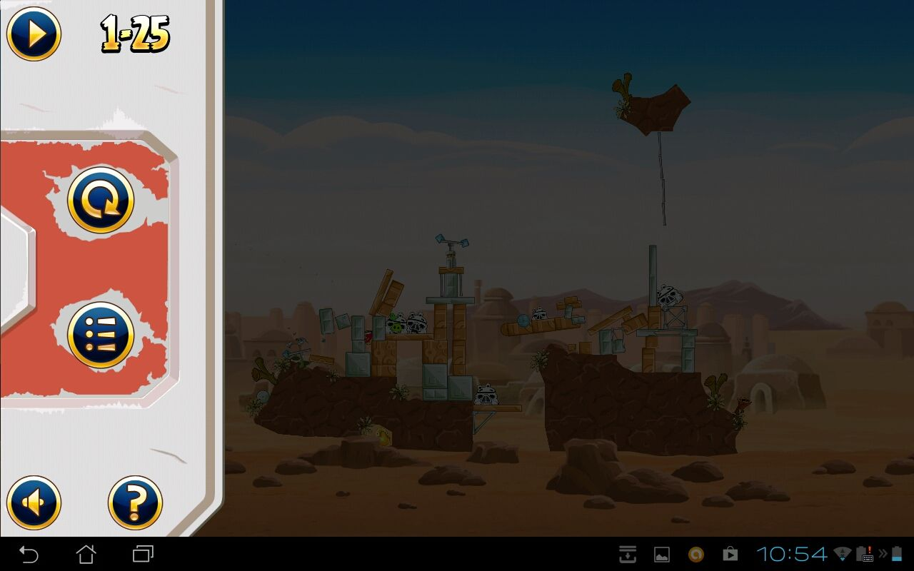 Angry Birds: Star Wars Android The game's stylised pause screen